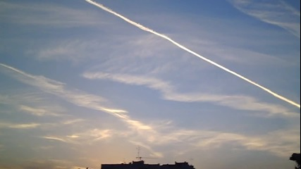Chemtrails over Sofia 3 (02.05.2013)