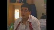 Миа целува Мигел в стаята му