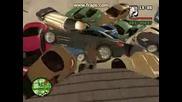 Gta:sa 100 Cars Explosion
