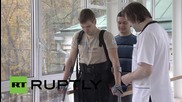 Russia: ExoAtlet's human exoskeleton helps disabled patient walk again