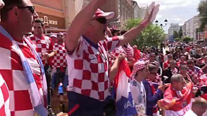 Russia: Argentinian and Croatian fans take over Nizhny Novgorod ahead of WC showdown