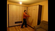 Падащо легло 160х200 см. и гардероб от Видар
