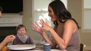Nikki and Artem feed Matteo!