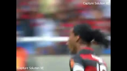 Луд гол на Роналдиньо за Фламенго