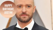 Justin Timberlake is surrounded by love at 37