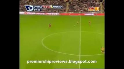 Супершоу!! Ливърпул - Арсенал 4:4 21.04.2009