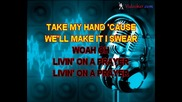 Bon Jovi - Livin' On A Prayer (karaoke)