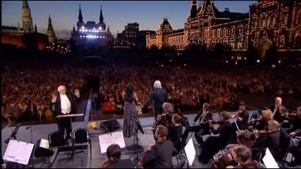 Анна Нетребко и Дмитрий Хворостовский - Подмосковные вечера - Москва 2013