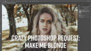 Photoshop Timelapse: Give me a drastic hair change