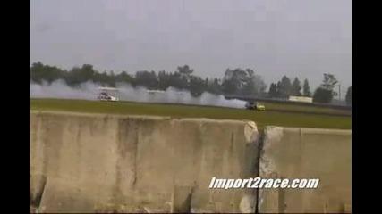 Sti vs 350 Z (drift battle)