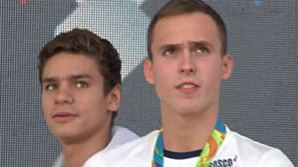 Brazil: Russian swimmers honoured in Rio after winning bronze medals