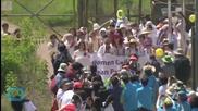 Gloria Steinem and Activists Cross DMZ Between Koreas