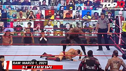 Top 10 Mejores Momentos de RAW: WWE Top 10, Mar 1, 2021