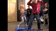 Britney Spears and Wade Robson - Rehearsing Pepsi Routine On Set