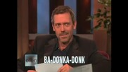 The British accent vs The American - Hugh Laurie @ the Ellen Show