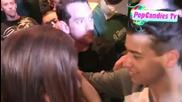 Lana Del Ray greets fans at Lana Del Ray Concert at El Rey Theatre in Los Angeles 06052012