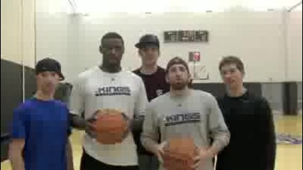 Dude Perfect™ and Tyreke Evans 2 - Hotel Drop Shot