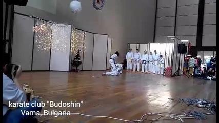 "Карате клуб"" Будошин"" демонстрация 19.12.2015"