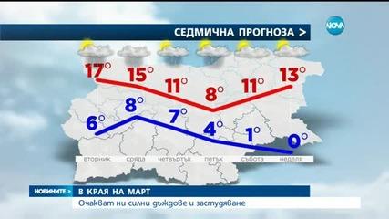Очакват ни силни дъждове и застудяване в края на март?