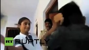 India: Police watch as schoolgirl beats and humiliates man who harassed her