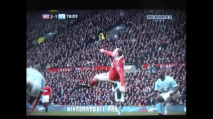 най красивия гол за 2011 до момента Wayne Rooney Манчестър Юнайтед 2 : 1 Манчестър Сити