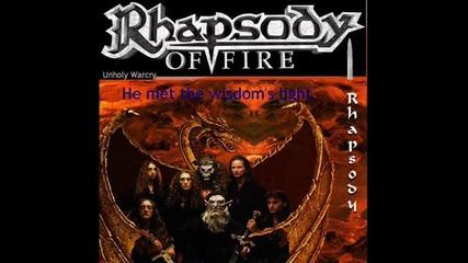 Rhapsody of fire Unholy warcry lyrics