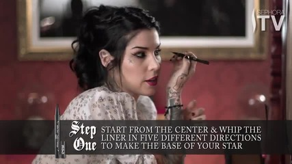 How To Create Kat Von D's Star-shaped Tattoo