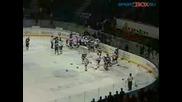 Най - Големият Масов Бой В Хокея За 2008г.