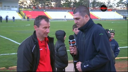 Стамен Белчев след победата с 2:0 на Хасково над Локо Пд