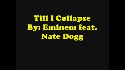 Eminem- Till I Collapse Lyrics