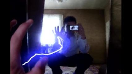Lightning effect with blast