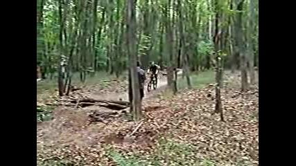 Mountain Bike - Удар В Дърво...