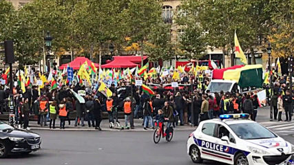 France: Protesters rally in support of Syrian Kurds amid Turkish offensive