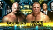 Wwe Survivor Series 2016 Goldberg vs Brock Lesnar - Official Match Card