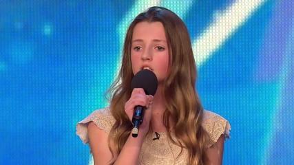 Момиче вдига журито на крака с песента си - Britain's Got Talent 2015