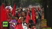 Mexico: Thousands of Antorchistas march for reforms in Mexico City