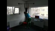 25 kg Weighted Pull - up by Female athlete