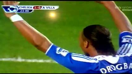 Chelsea vs Aston Villa 1-3 (didier Drogba Goal) 31.12.11