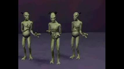 Извънземни Танцуват На Чалга
