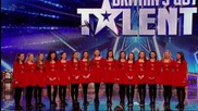 Ирландски танцьорки изненадаха жури и публика с неочакван танц , в Британия търси талант!
