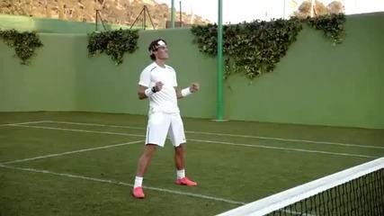 Кристиано Роналдо и Рафаел Надал играят тенис в реклама на Nike