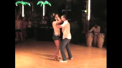 Tanja and Jorge танцуват Bachata