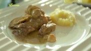 Телешко с манатарки и картофено пюре