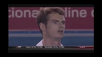 Тенис класика : Форхенд на Мъри покрай мрежата