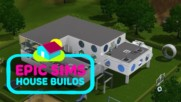 Epic Sims House Builds: A futuristic high-tech home time lapse