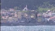 Руски боен кораб стреля по турски съд в Егейско море