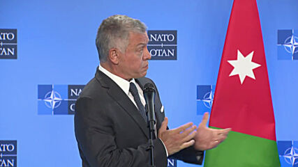 Belgium: Jordan's King Abdullah meets NATO chief in Brussels to discuss regional security