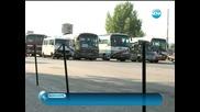 Протест на автобусни превозвачи блокира Благоевград