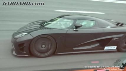 250-374 km-h Koenigsegg Agera R vs Bugatti Veyron Vitesse