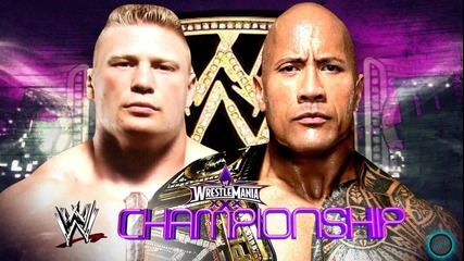 2014- Wwe Wrestlemania 30 Brock Lesnar Vs The Rock Wwe Championship Hd